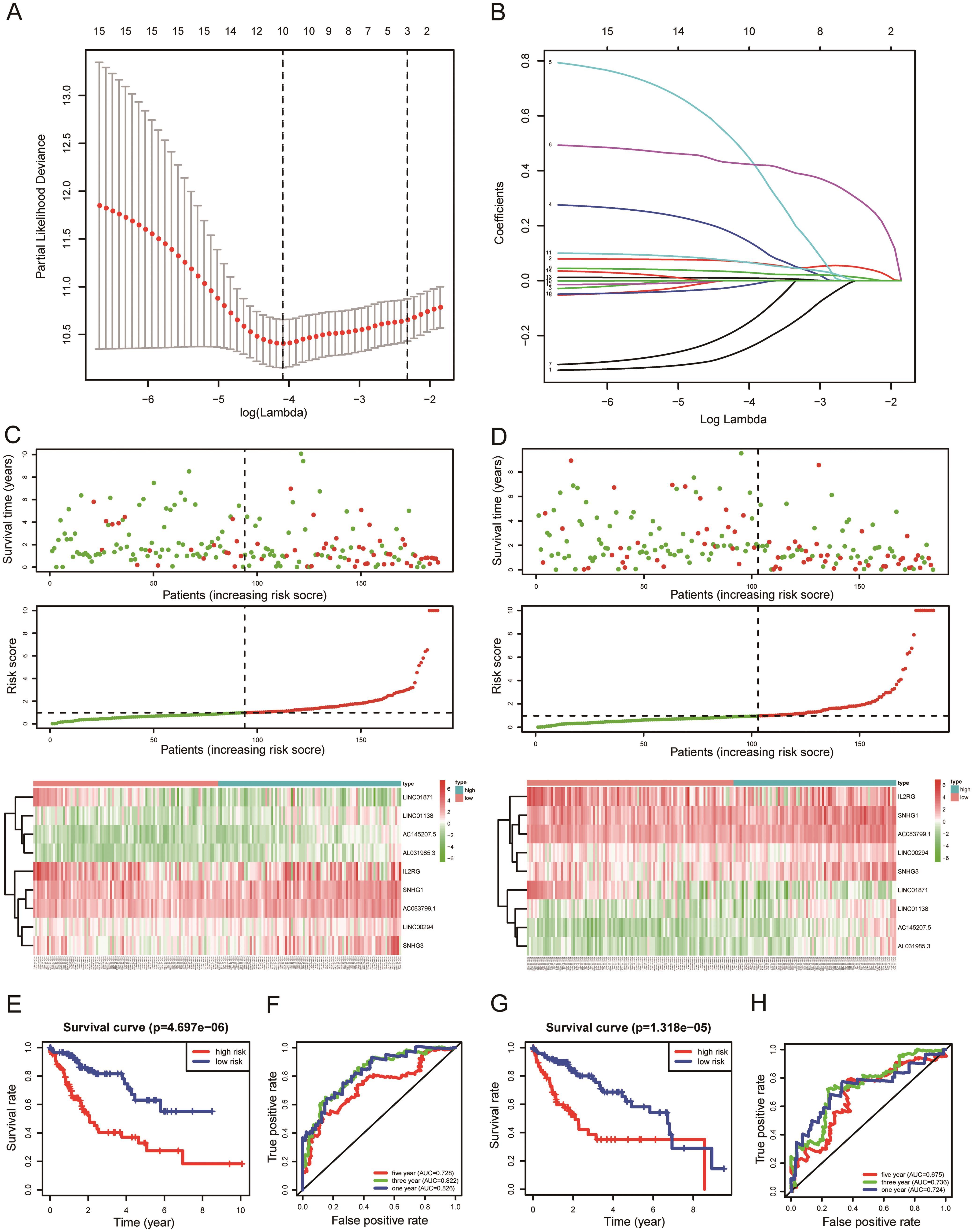 Construction of risk score model based on DETFs-IRLncRNAs-KIRGs network.