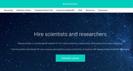 ResearchGate官方网站